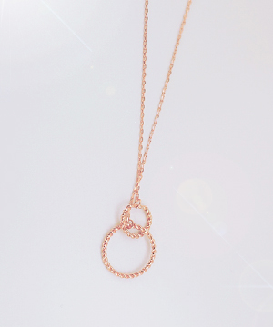 2 ring necklace (silver)(당일출고)