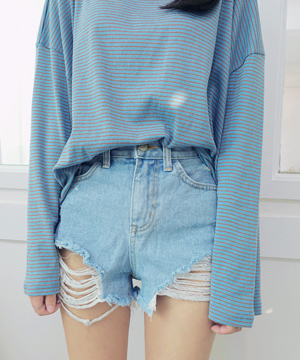 scratch denim short PT